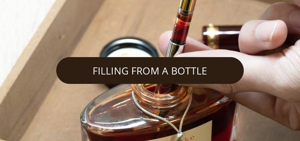 Filling from a bottle